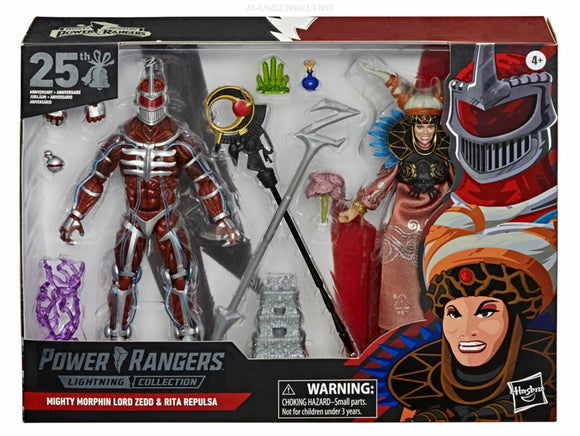 Lord Zedd & Rita Repulsa Lightning Collection Action Figures (GameStop)