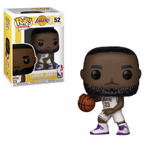 Funko POP! Basketball LeBron James (White) Vinyl Figure NEW -  - Funko - The Pop Dungeon