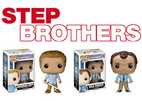 Funko POP! Movies Step Brothers Set Vinyl Figures (VAULTED) NEW