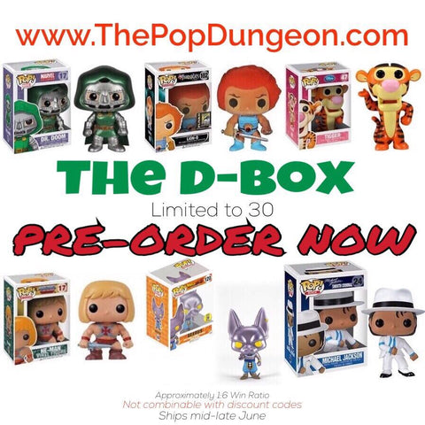 PRE-ORDER - THE D-BOX - NEW -  - The Pop Dungeon - The Pop Dungeon