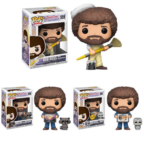 PRE-ORDER - Funko POP! Television Bob Ross Series 2 Vinyl Figure (CHASE BUNDLE)