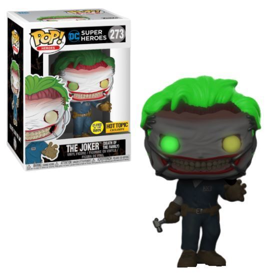 The Joker (DotF) Funko POP! Heroes (GITD) Vinyl Figure (Hot Topic) NEW