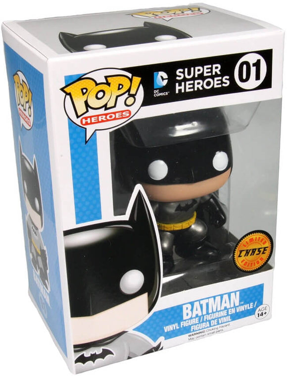 Funko POP! Heroes Batman (Metallic) Vinyl Figure (CHASE) NEW
