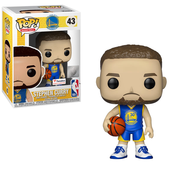 Funko POP! Basketball Stephen Curry (Blue Jersey) Vinyl Figure (Fanatics) NEW -  - Funko - The Pop Dungeon