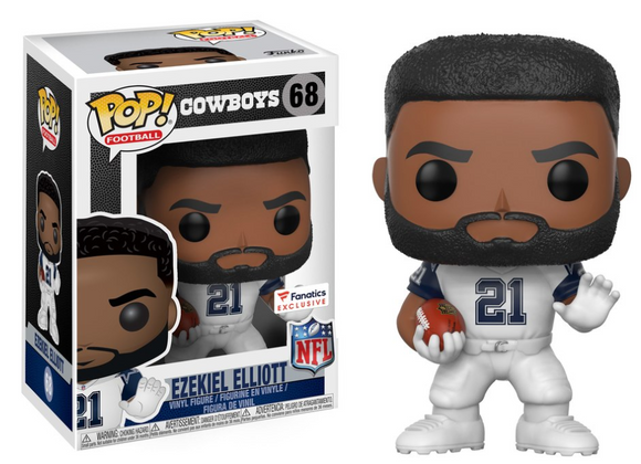 Funko POP! Football Ezekiel Elliot Vinyl Figure (Fanatics) NEW