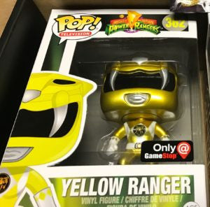 Funko POP! Television MM Power Rangers Yellow Ranger (Metallic) Vinyl Figure (GameStop Exclusive)NEW -  - The Pop Dungeon - The Pop Dungeon