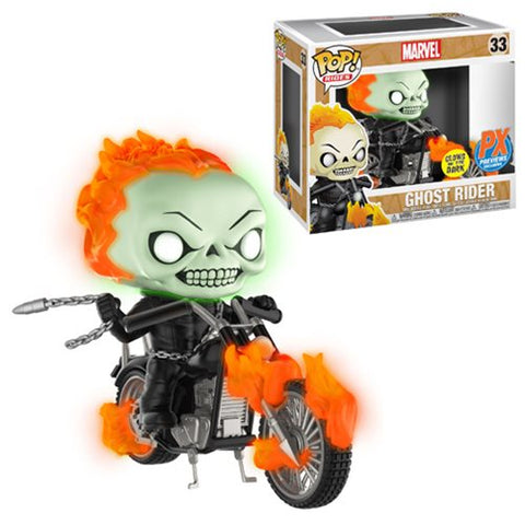 PRE-ORDER - Funko POP! Marvel Ghost Rider (GITD) (w/Bike) Vinyl Figure (Previews) NEW
