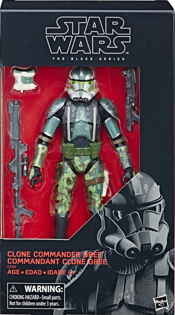 Star Wars: Black Series - Clone Commander Gree Action Figure (Exclusive)