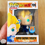 Funko POP! Animation Super Saiyan 2 Vegeta Vinyl Figure (PX Previews) NEW