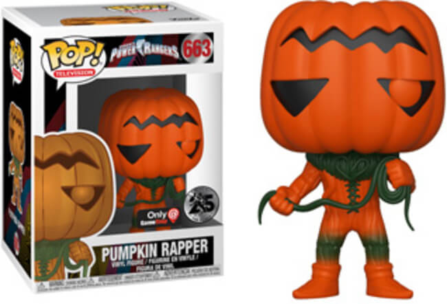 Funko POP! Television Power Rangers Pumpkin Rapper Vinyl Figure (GameStop) NEW