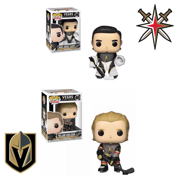 las vegas golden knights marc andre fleury william karlsson hockey nhl funko pop vgk