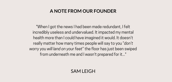 A NOTE FROM OUR FOUNDER