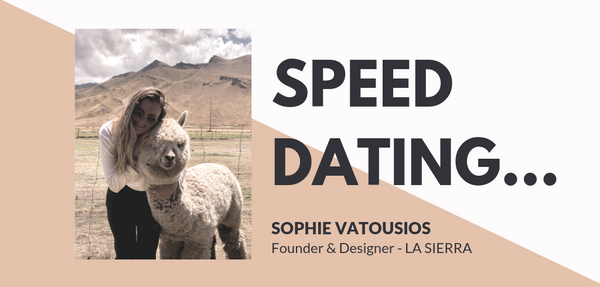 Speed Dating...Sophie Vatousios, La Sierra