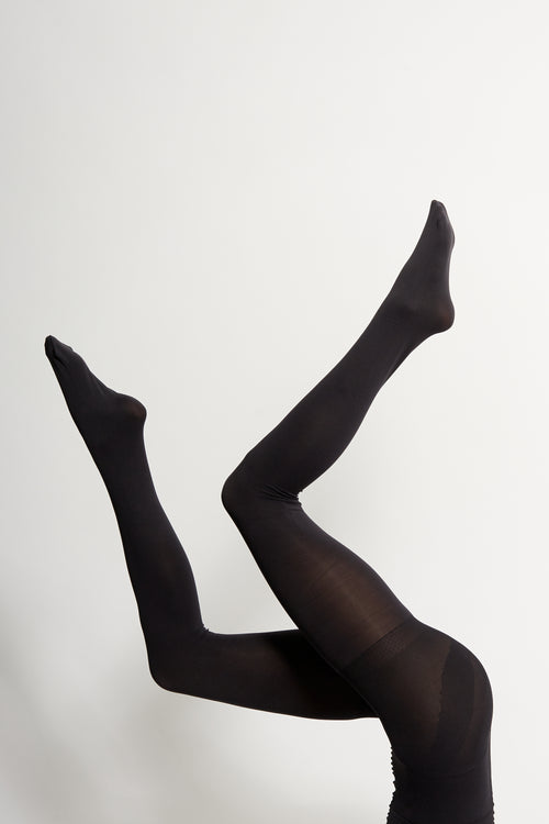 Black 120 Denier Tights - 2 Pack | Sustainable Hosiery Australia | ECOMONO