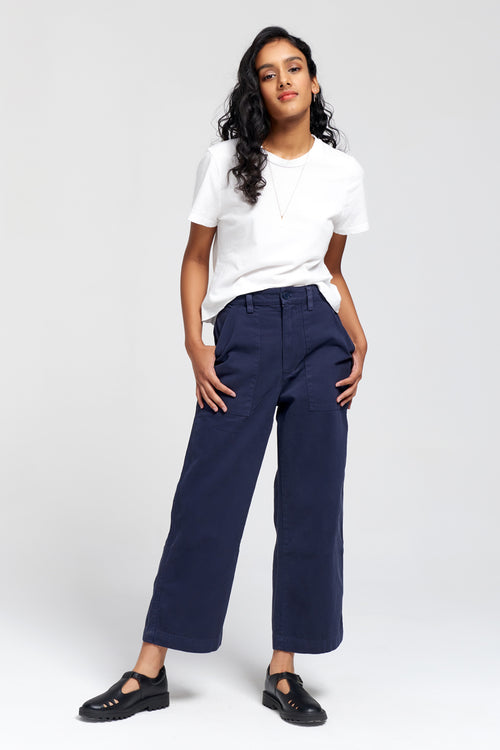 Blushed Stella Pants - Navy