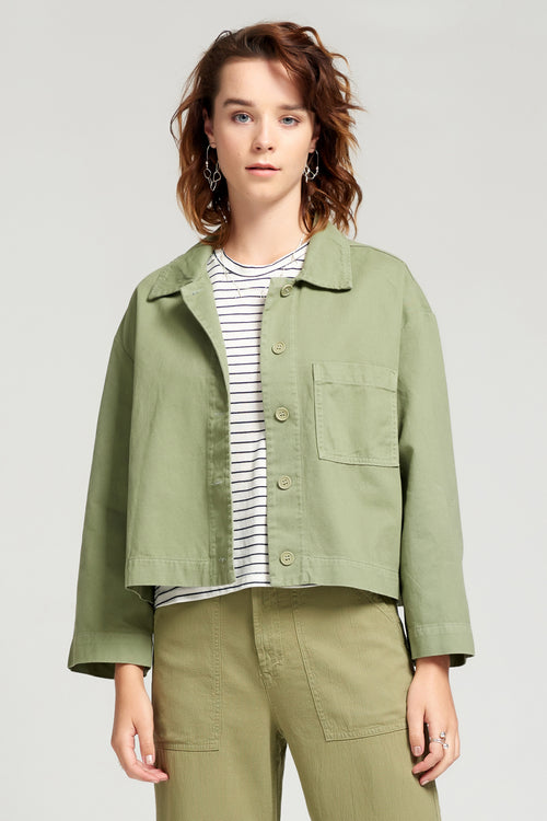 Blushed Jane Jacket - Aloe