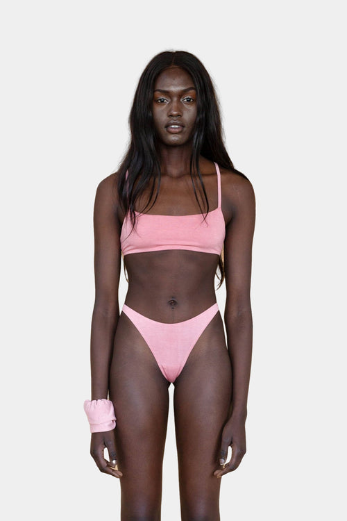 Hara The Label Pink Eva G-String | Sustainable Bamboo Underwear