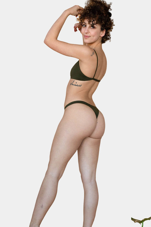 Hara The Label Olive Eva G-String | Sustainable Bamboo Underwear