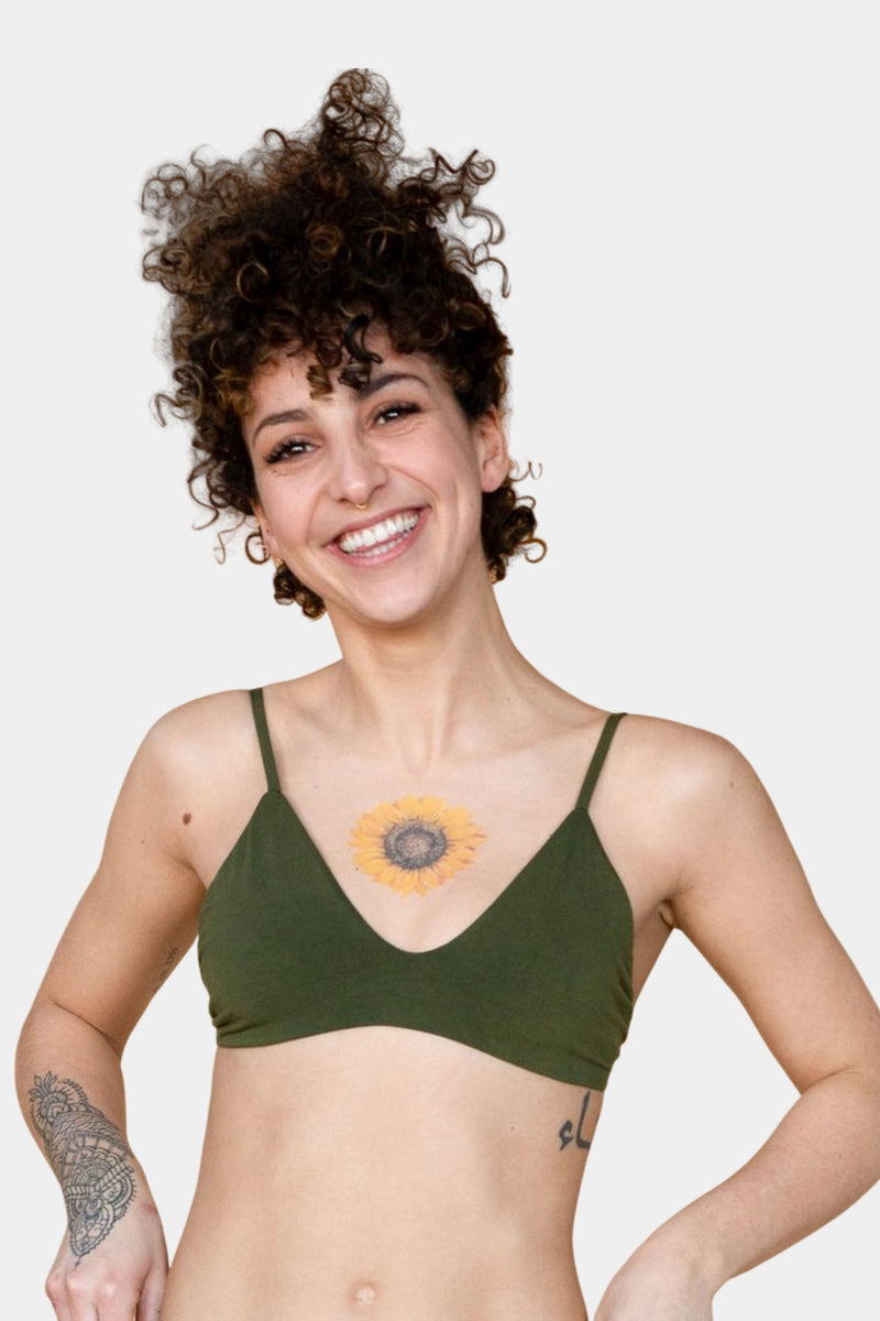 Hara The Label Olive Stella Low Cut Bra | Sustainable Bamboo Underwear