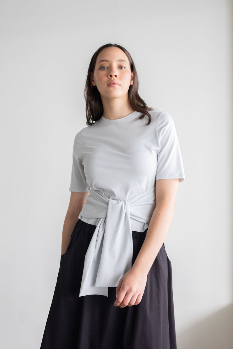 Repose Top Pale Grey | ReCreate Clothing | Ethically Made Tops Australia