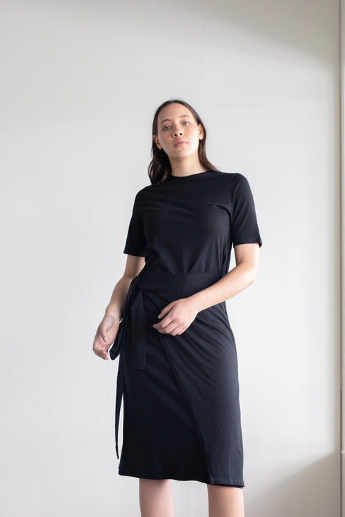 Incline Dress Black | ReCreate Clothing | Ethical Made Dresses Australia