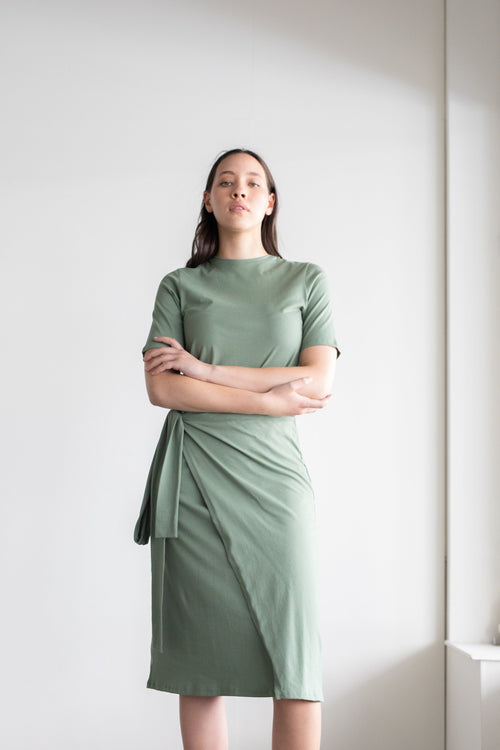 Incline Dress Khaki