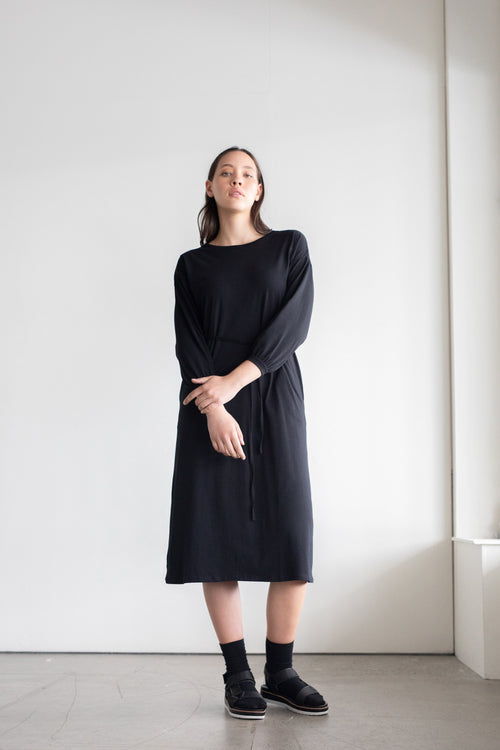 Accord Dress Black | ReCreate Clothing | Ethical Made Dresses Australia