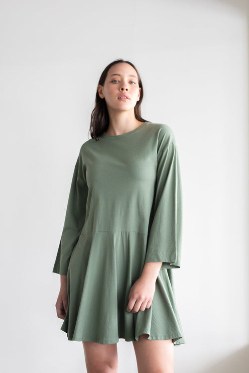 Margin Dress Khaki | ReCreate Clothing | Ethical Dresses Australia