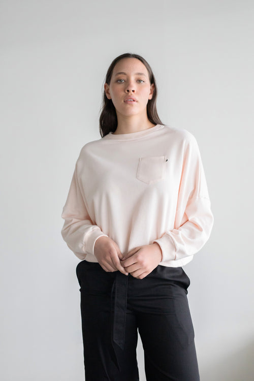 Entity Sweatshirt Dusky Pink | ReCreate Clothing | Ethical Winter Sweaters
