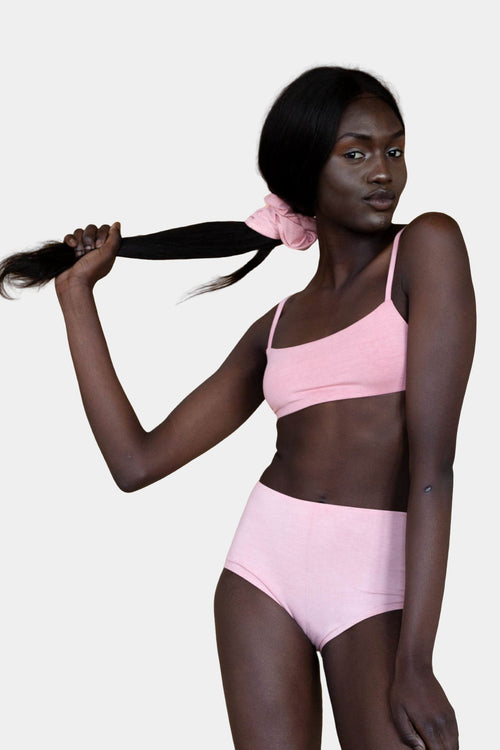 Hara The Label Pink Lena High Waist Undies | Sustainable Bamboo Underwear