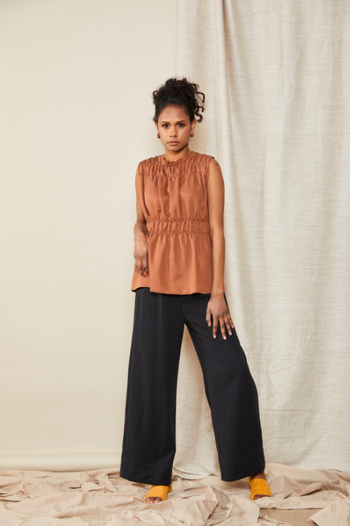 Scrunch Top Terracotta | Lois Hazel | Made in Australia