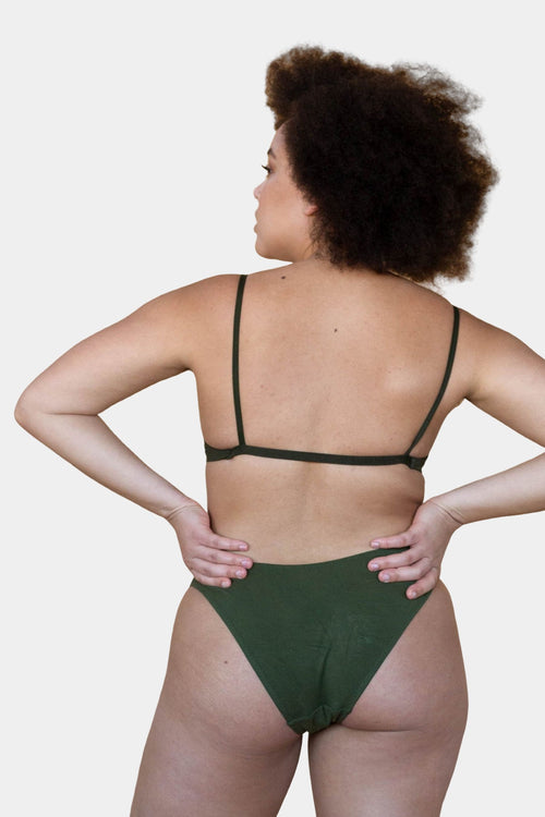 Hara The Label Olive Maya Low Waist Undies | Sustainable Bamboo Australia