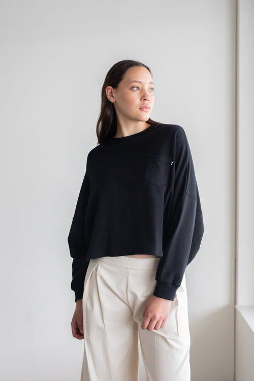 Entity Sweatshirt Black | ReCreate Clothing | Ethical Winter Sweaters