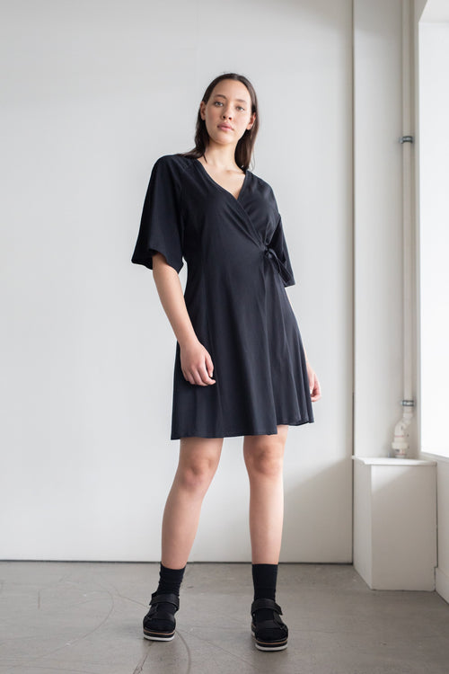 Diverge Dress Black | ReCreate Clothing | Ethical Made Dresses Australia