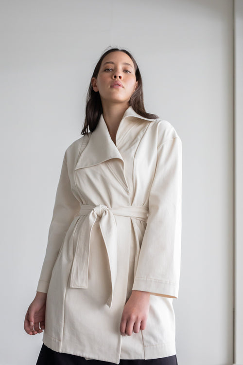 Alliance Coat Natural | ReCreate Clothing | Ethical Winter Coats