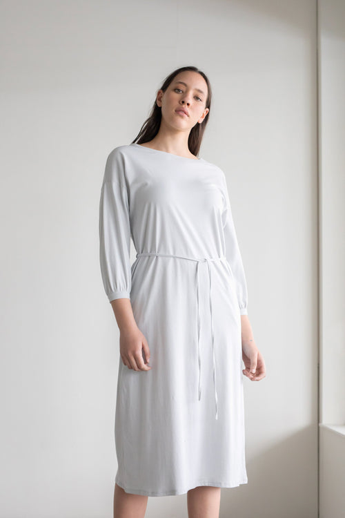 Accord Dress Pale Grey | ReCreate Clothing | Ethical Made Dresses