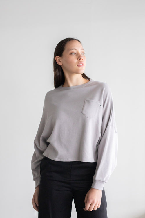 Entity Sweatshirt Taupe Grey | ReCreate Clothing | Ethical Winter Sweaters