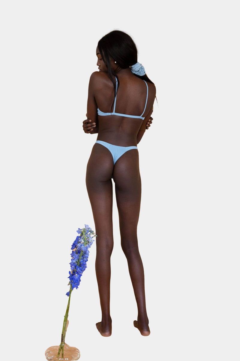Hara The Label Powder Blue Eva G-String | Sustainable Bamboo Underwear
