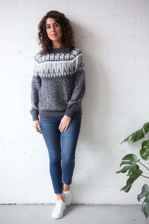 Classic Alpaca Jumper - Andina Yoke | Winter Jumpers Australia