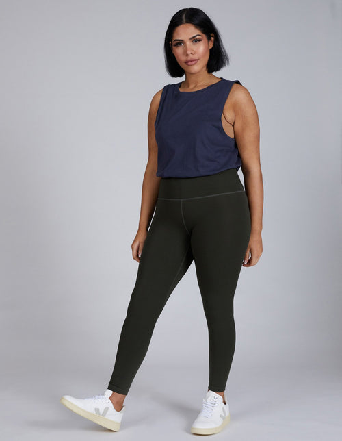 7/8 Legging Olive | Sustainable Activewear | Made From Plastic Bottles