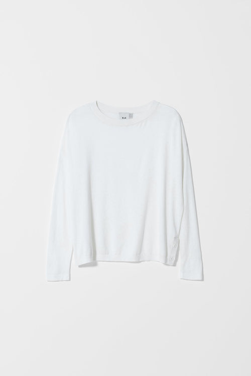 AVESTA LONG SLEEVE SWEATER WHITE | Ethical Fashion Australia | ECO.MONO | Melbourne | Spring Summer