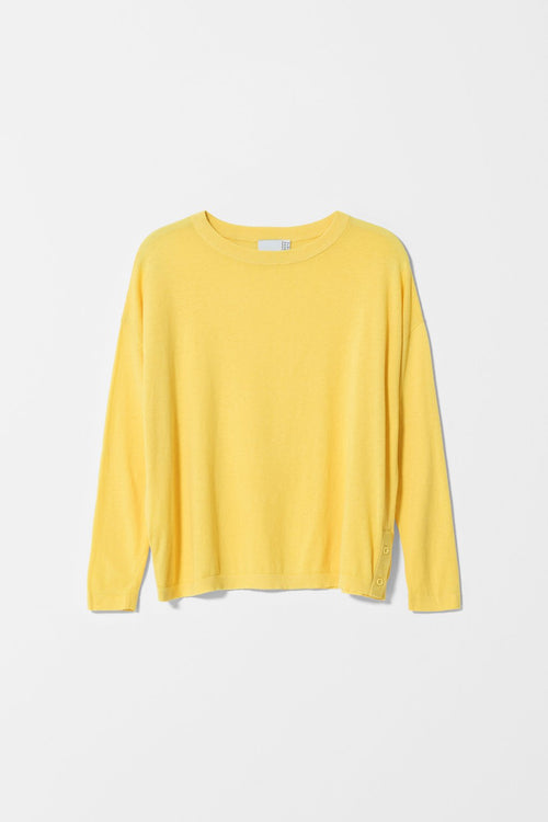 AVESTA LONG SLEEVE SWEATER YELLOW| Ethical & Sustainable Fashion Australia | ECO.MONO | Melbourne | Summer Spring