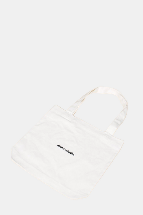 Ahimsa Collective Ban the Bag - White Tote Bag | Vegan Bags Australia