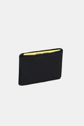 Ahimsa Collective | Card Wallet Black Patent Washable Paper | Vegan Bags