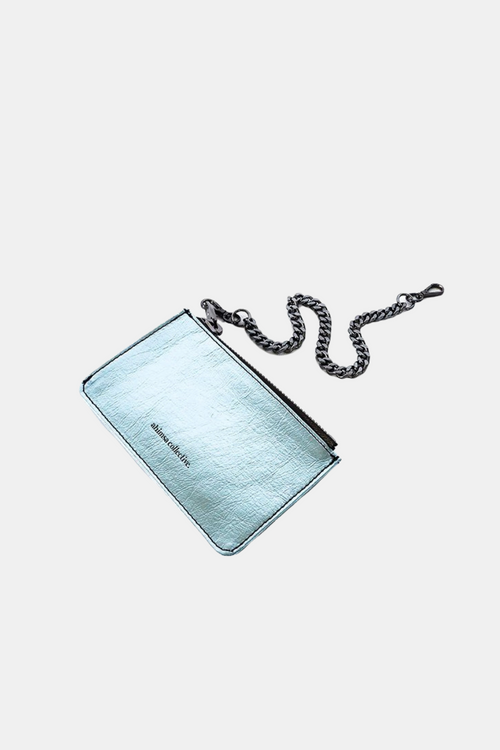 Ahimsa Collective | Coin Purse - Metallic Blue | Vegan Bags