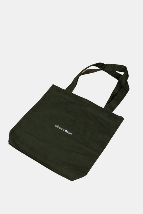 Ahimsa Collective Ban the Bag - Olive Tote Bag | Vegan Bags Australia