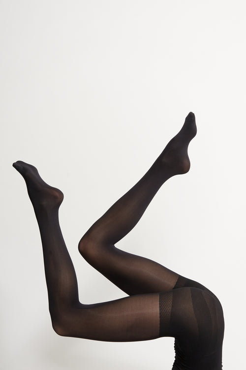 Black 50 Denier ECO Tights - 2 Pack | Sustainable Hosiery | ECOMONO