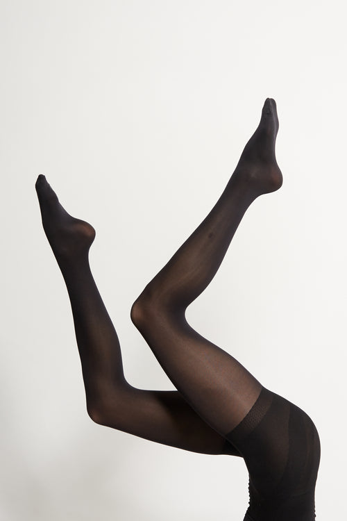 Black 60 Denier Support Tights - 2 Pack | Sustainable Winter Tights