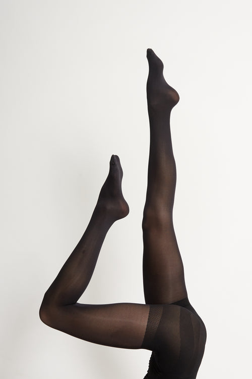 Black Tights 60 & 120 Denier Mixed 2 Pack | Sustainable Winter Tights