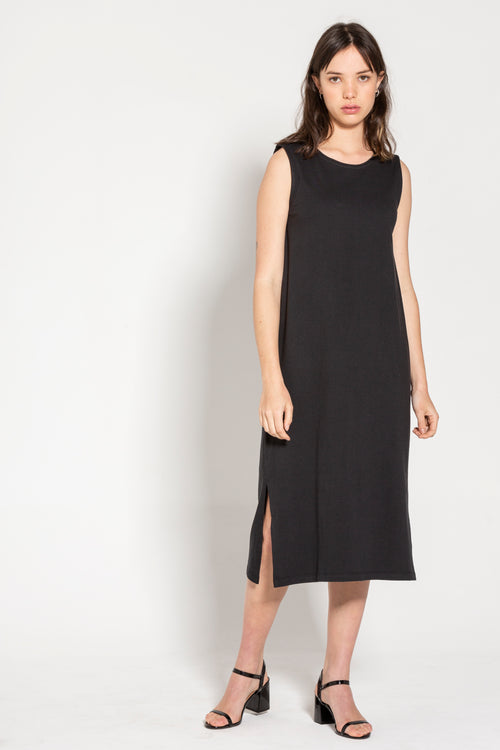 Dorsu Black Relaxed Tank Dress